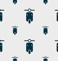 Motorcycle icon sign seamless pattern with vector