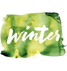 Winter calligraphy hand lettering abstract vector