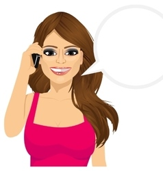 Woman talking on the phone vector