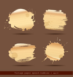 Vintage paper speech bubble paint brush vector image