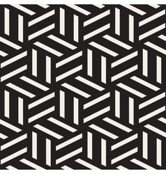Seamless black and white rectangle lines vector