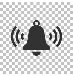 Ringing bell icon dark gray icon on transparent vector