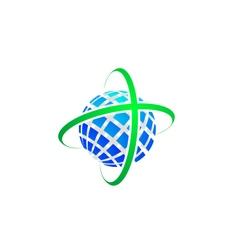 Global World Logo Concept vector image