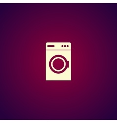 Washing machine icon vector