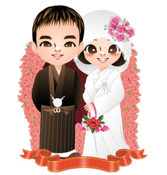 Wedding japan vector