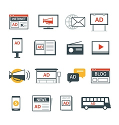 Advertising media icon flat design vector