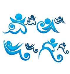aqua park symbols vector image vector image