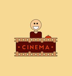 Cinema ticket office in flat vector