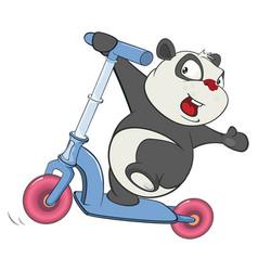 Cute brown bear cartoon character vector