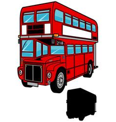 Double decker bus vector