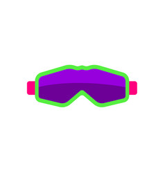 flat style skiing snowboarding mask goggles vector image