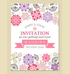 floral poster design template with place for your vector image