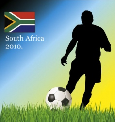 football South Africa vector image