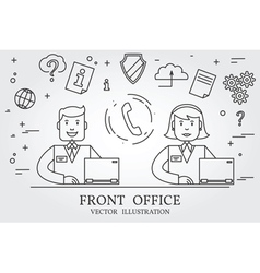 Front office Think line icon vector image vector image