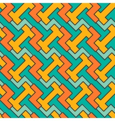 Geometric mosaic pattern seamless abstract vintage vector