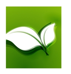 Green leaves abstract wave eco design vector image vector image