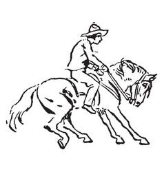 Horseback rider vintage vector