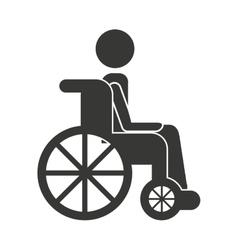human person wheelchair icon vector image vector image