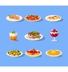 Italian menu set vector