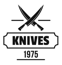Knife logo simple black style vector