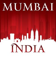 Mumbai India city skyline silhouette vector image vector image