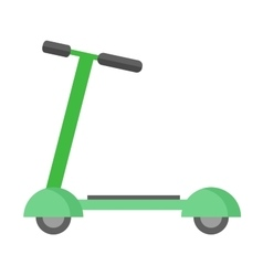 Push kick scooter vector