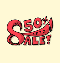 sale banner drawing style vector image