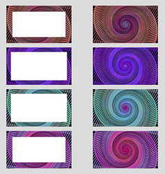 Spiral design business card frame set vector
