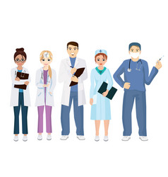 team doctors on a white vector image vector image