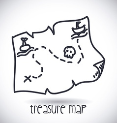 Treasure map design vector
