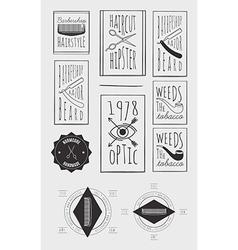 Trendy Retro Vintage Insignias Bundle vector image vector image