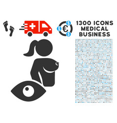 View prostitute icon with 1300 medical business vector