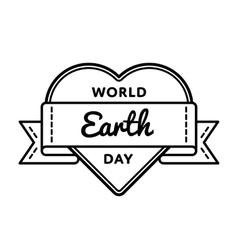 World earth day greeting emblem vector