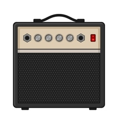 Electric guitar amplifier on white background vector
