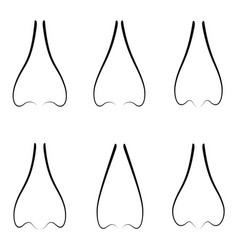 nose icon set vector image