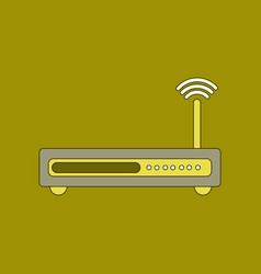 Flat icon on background wi fi modem vector
