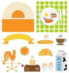 Breakfast set vector