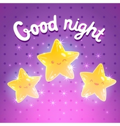 Star background good night vector