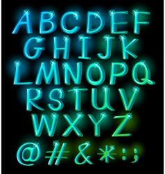 Sparkling big letters vector image