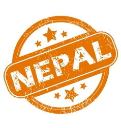 Nepal grunge icon vector
