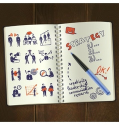Meeting sketch notepad vector