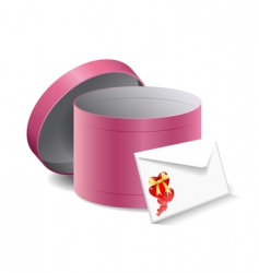 gift box and a letter vector image