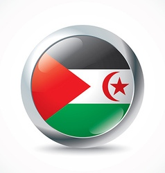 Western sahara flag button vector