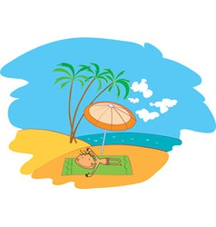 Relaxation on beach vector
