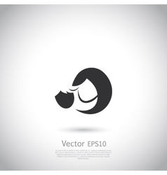 Mother and child icon or logo vector