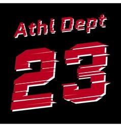 Athl dept design vector