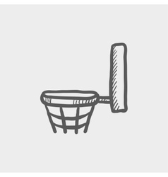 Basketball hoop sketch icon vector image