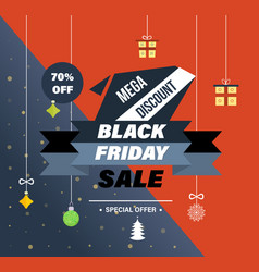 Black friday system of discounts for purchase vector