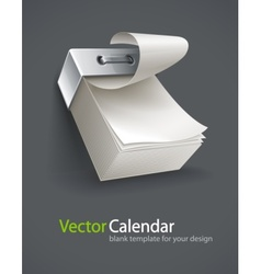 blank tear-off paper calendar vector image vector image