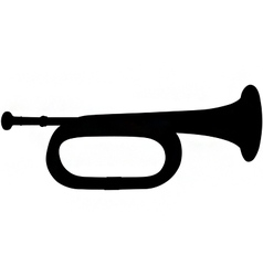 bugle silhouette vector image vector image